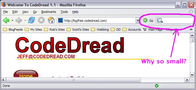 My Firefox 1.5 UI Pet Peeve