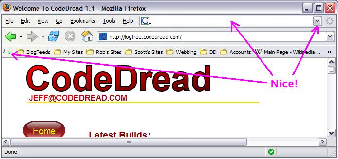 My Chrome for Firefox 1.5
