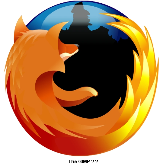 Firefox Logo in SVG as rendered by The Gimp 2.2