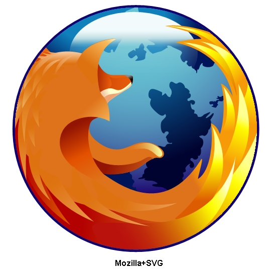 Firefox Logo in SVG as rendered by Mozilla+SVG