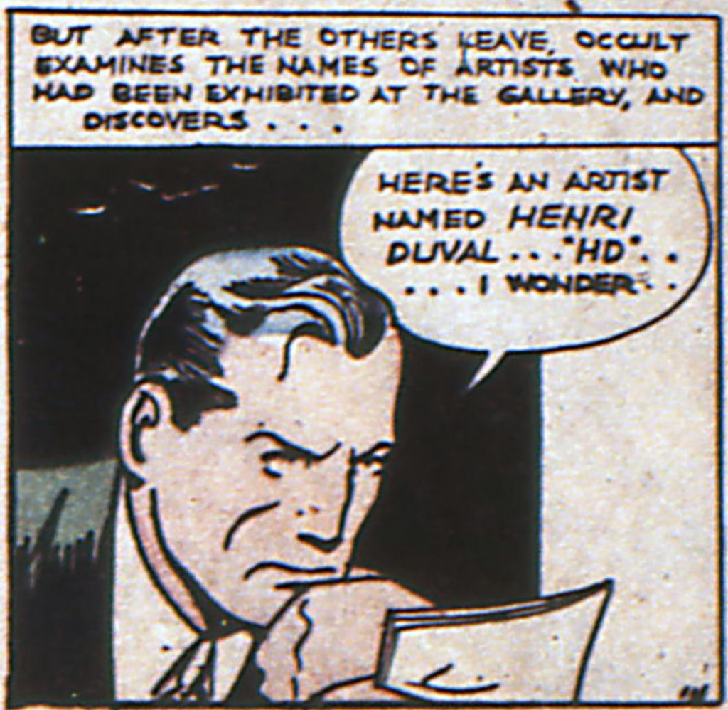 Doctor Occult from More Fun Comics #24, August 1937