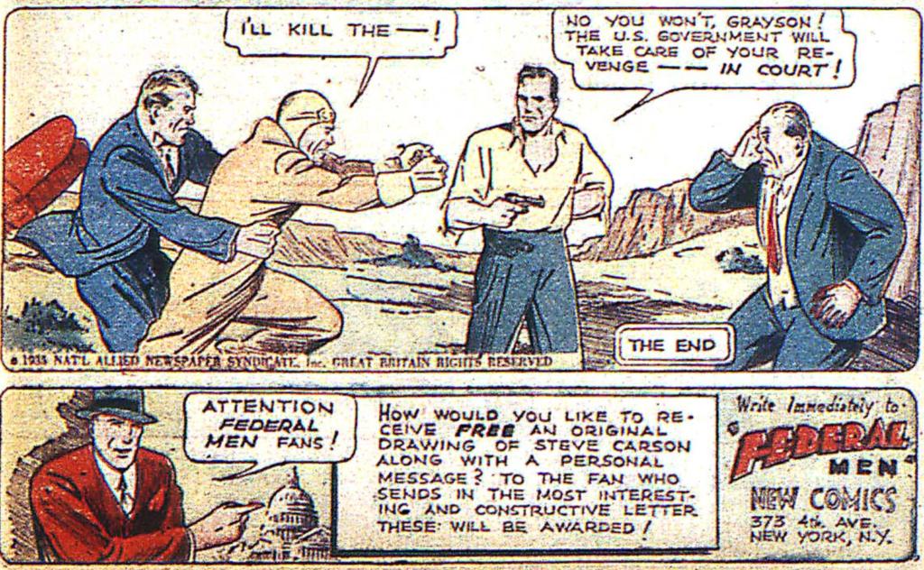 Federal Men from New Comics #3, 1936