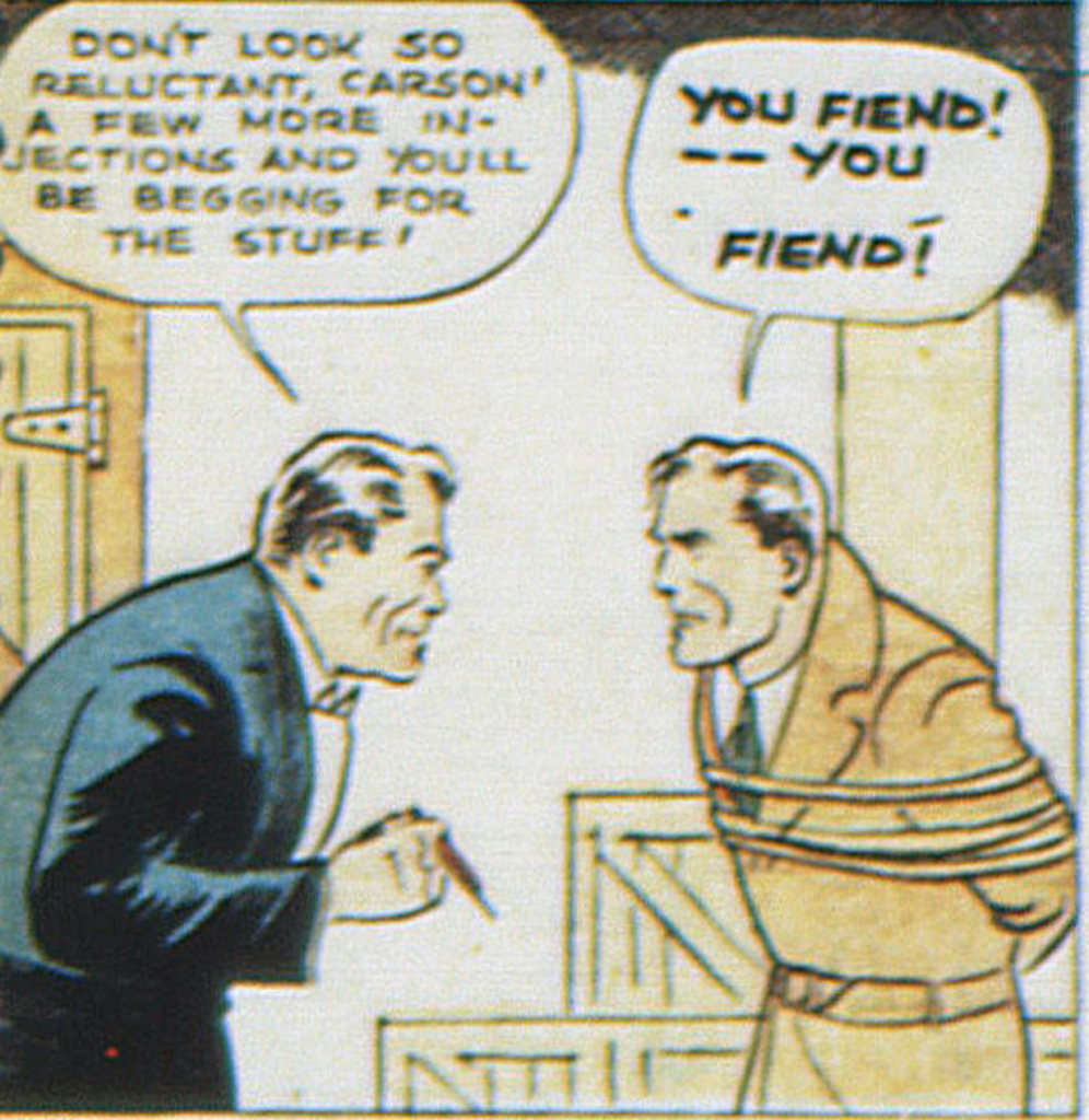 A panel from Federal Men in New Adventure Comics #13, January 1937