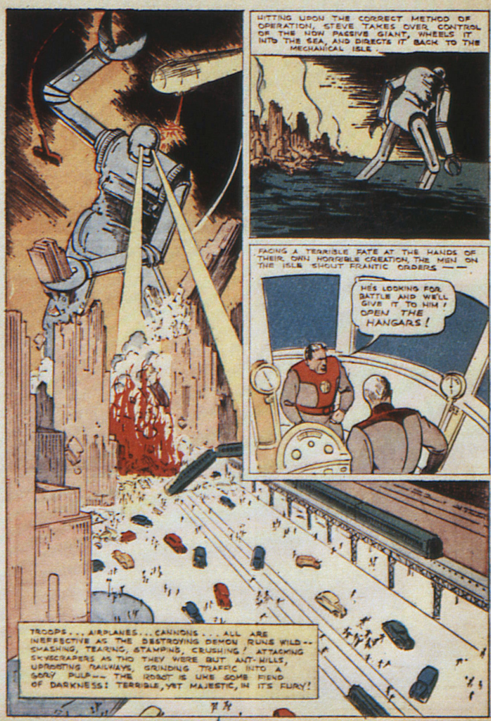 A page from Federal Men, New Comics #10.  October 1936.