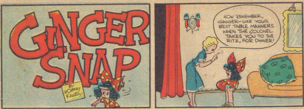 Ginger Snap from More Fun Comics #31, April 1938