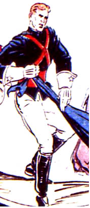 "An image of Rex Cosmos from the strip ""2023: Super Police"" featured in More Fun Comics"