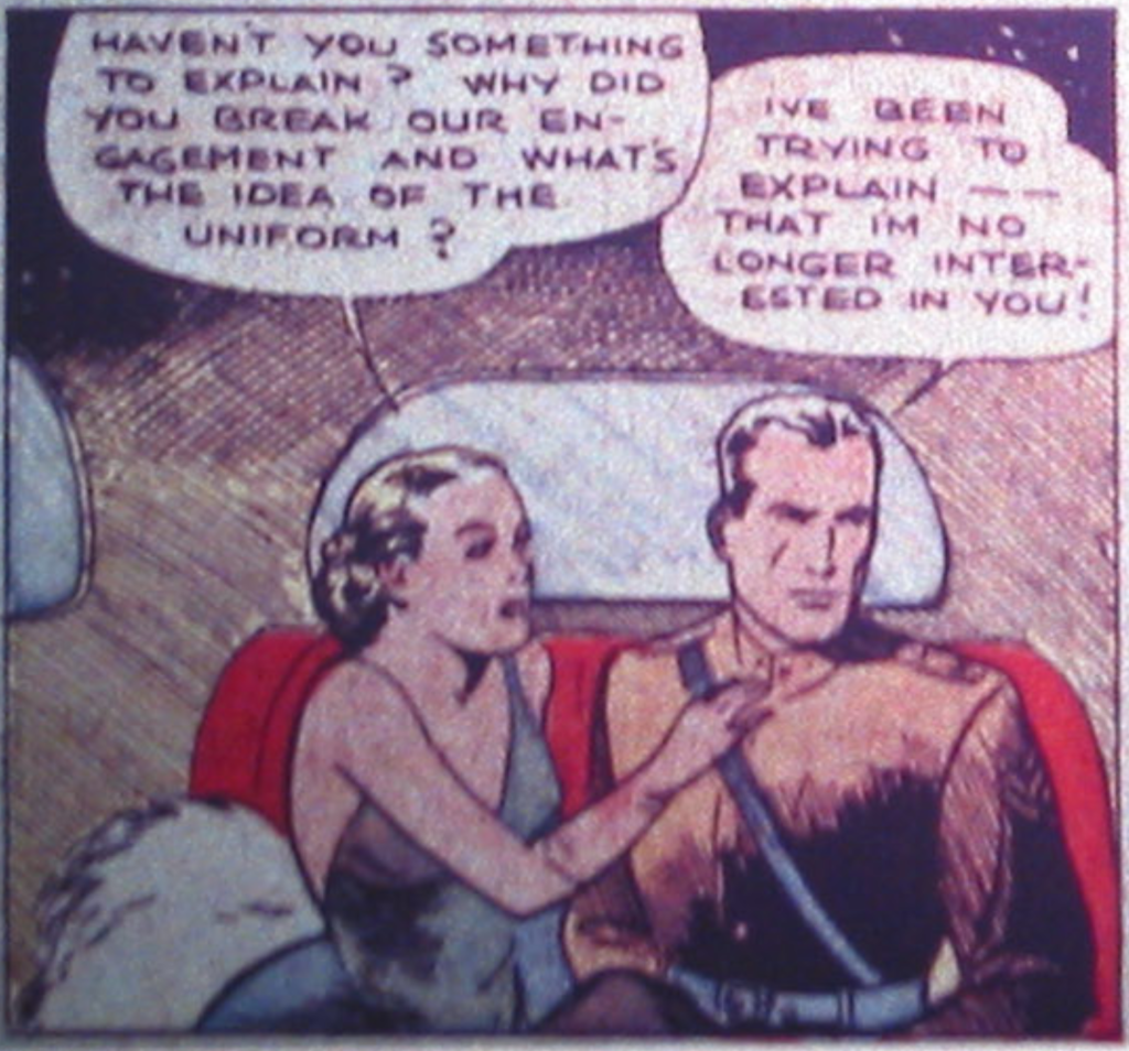 """A panel from """"Spy"""" in Detective Comics #2, March 1937"""