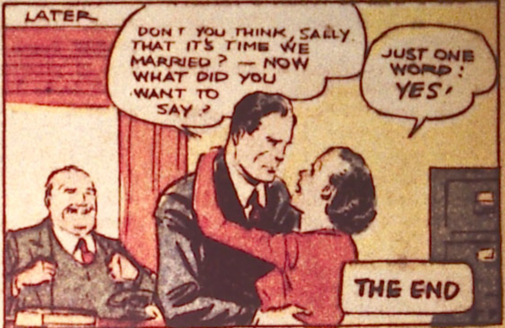 A panel from Spy in Detective Comics #18, July 1938
