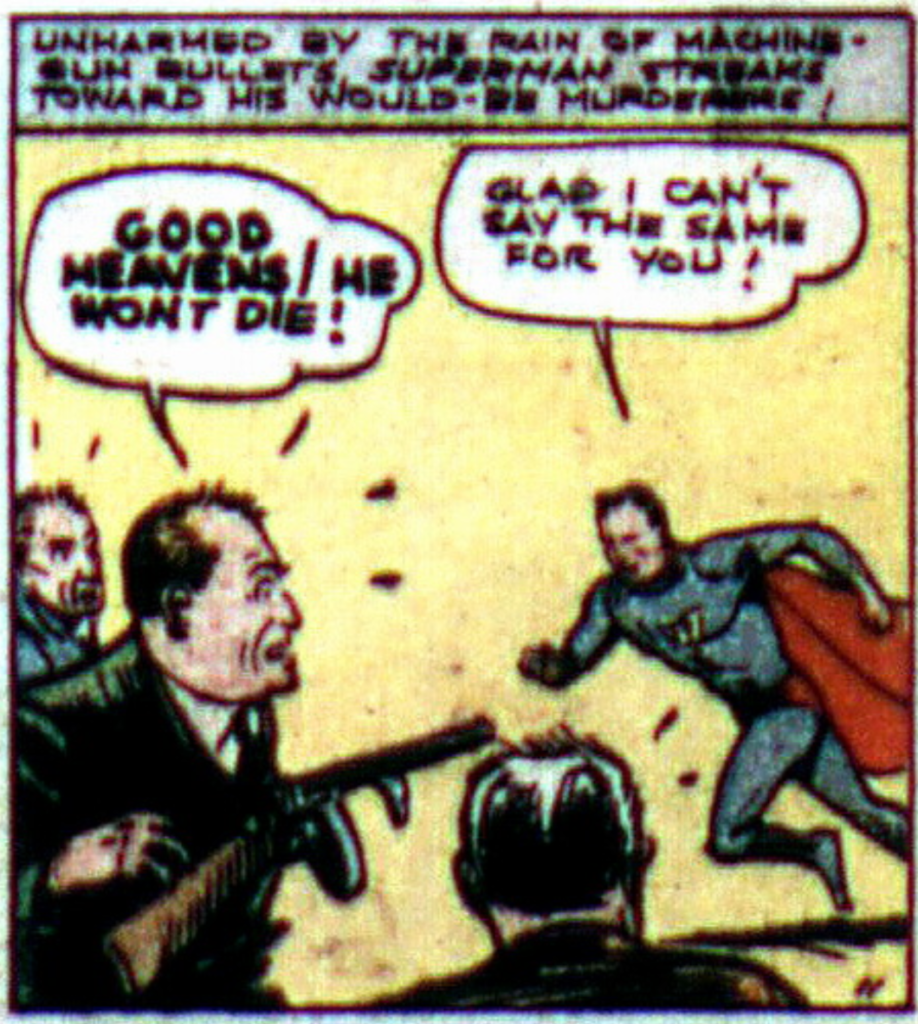 A panel from Action Comics #2, June 1938.