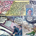 A couple panels of the Tailspin Tommy comic strip reprint from Famous Funnies #1, June 1934