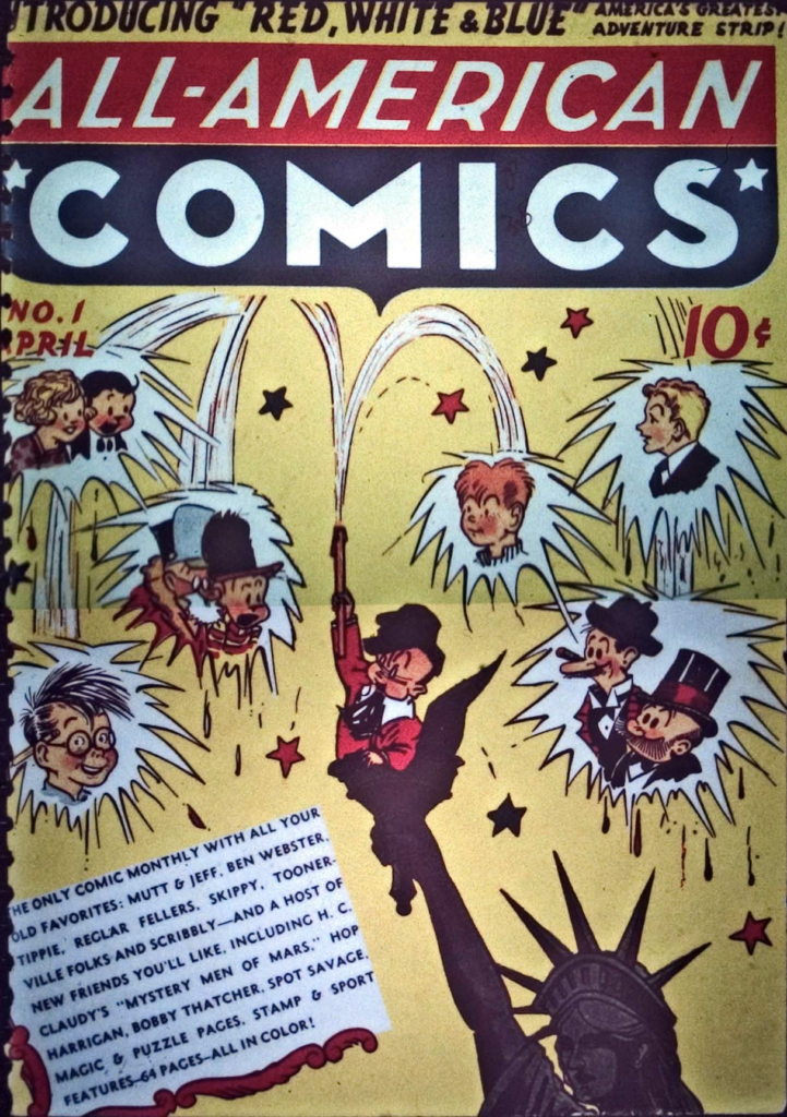 The cover of All-American Comics #1, March 1939
