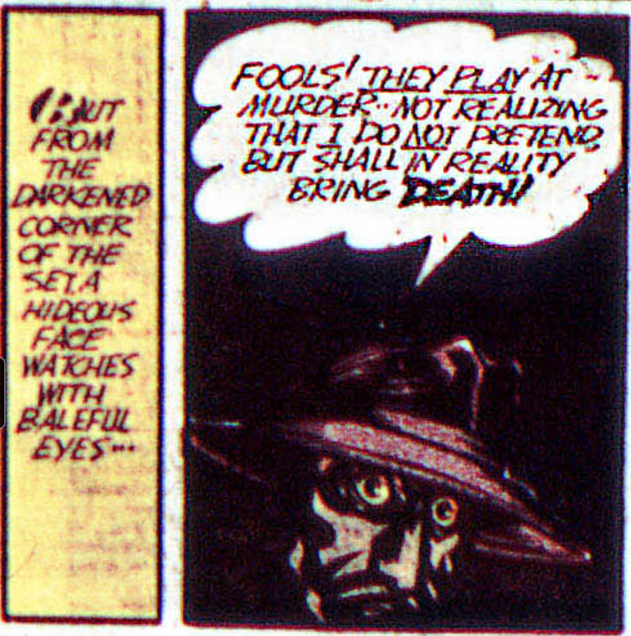 A panel from Detective Comics #40, May 1940