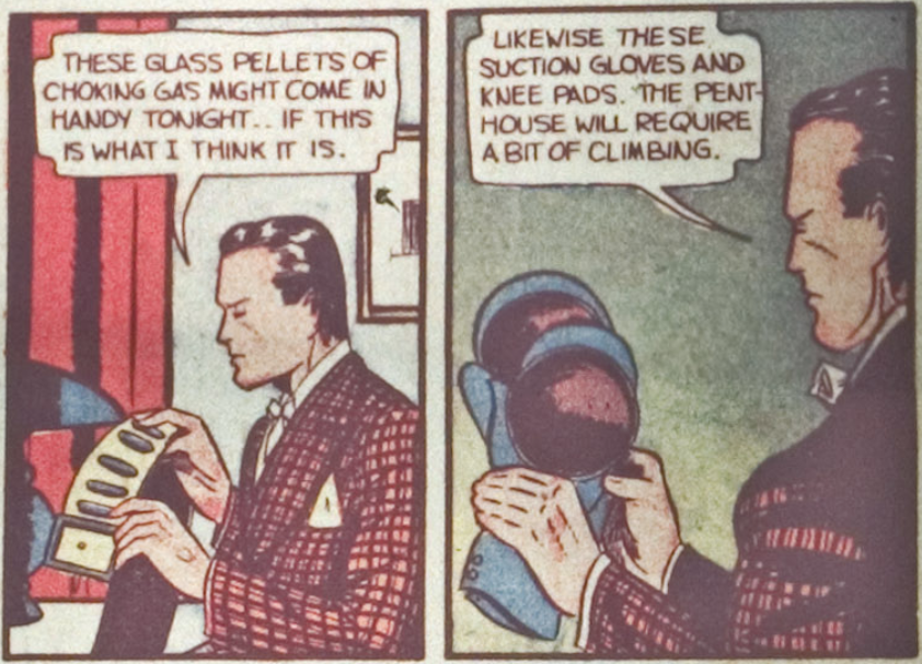 A panel from the Batman story in Detective Comics #29, June 1939