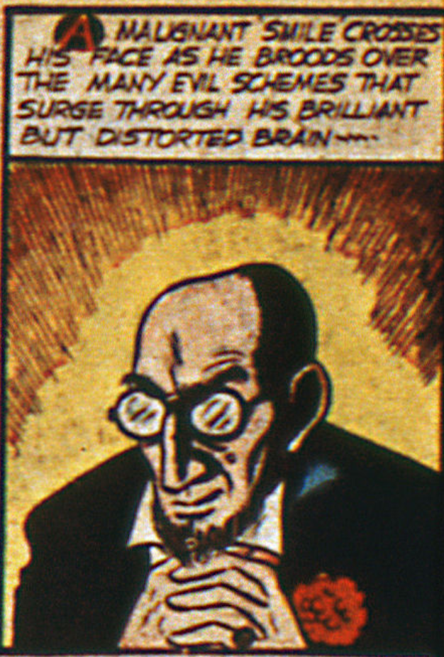 A panel from the Batman story in Detective Comics #36, January 1940