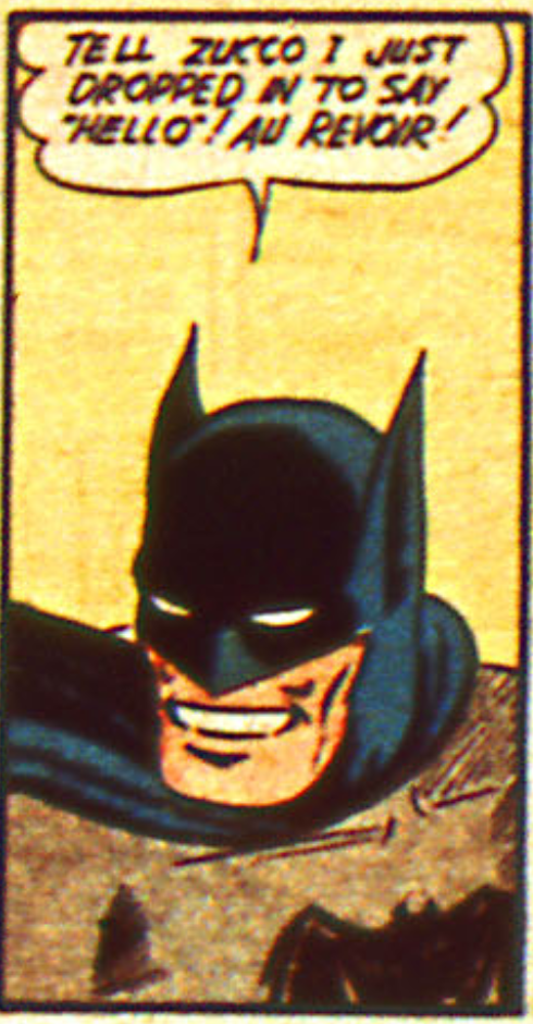 Batman smiles for the first time in Detective Comics #38, March 1940