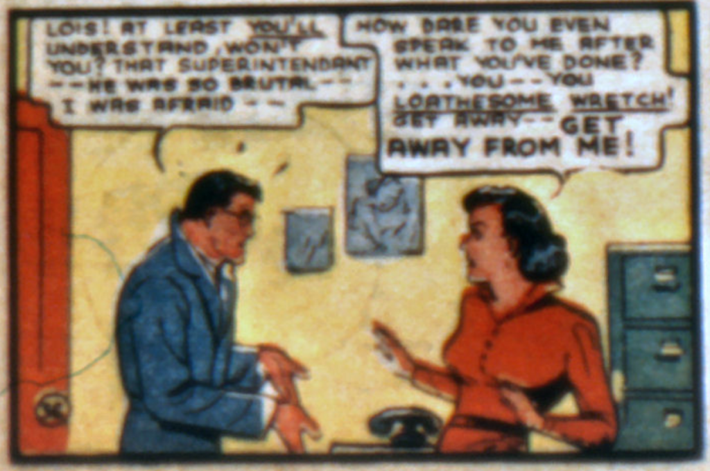A panel from Superman in Action Comics #10, February 1939