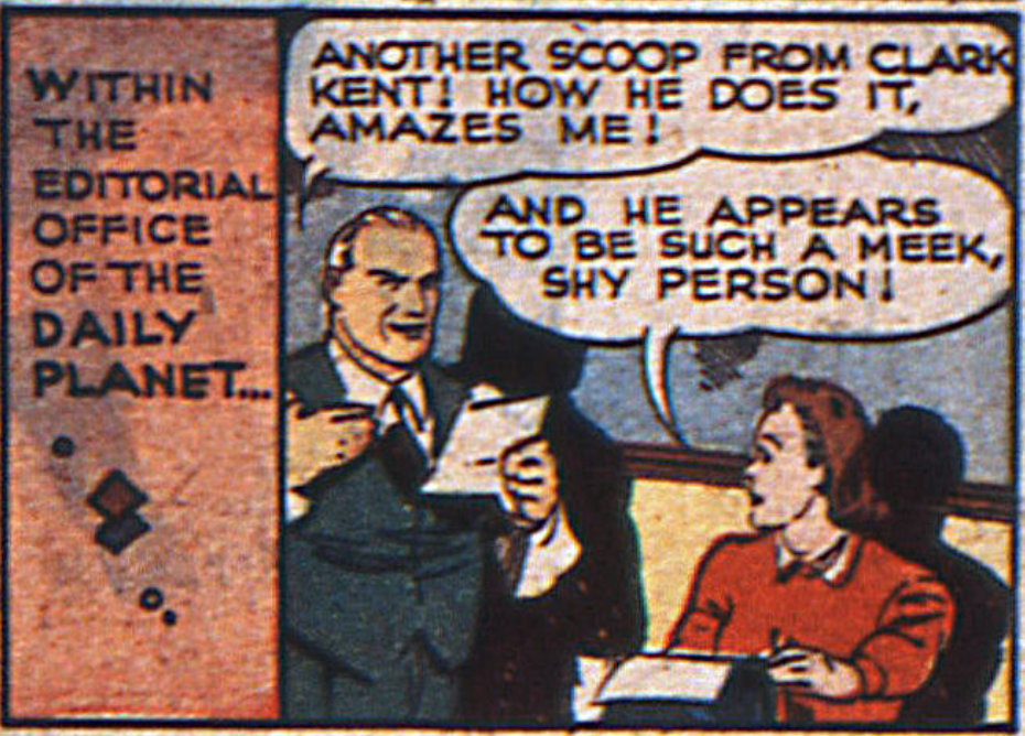The first mention of the Daily Planet in Action Comics #23, February 1940
