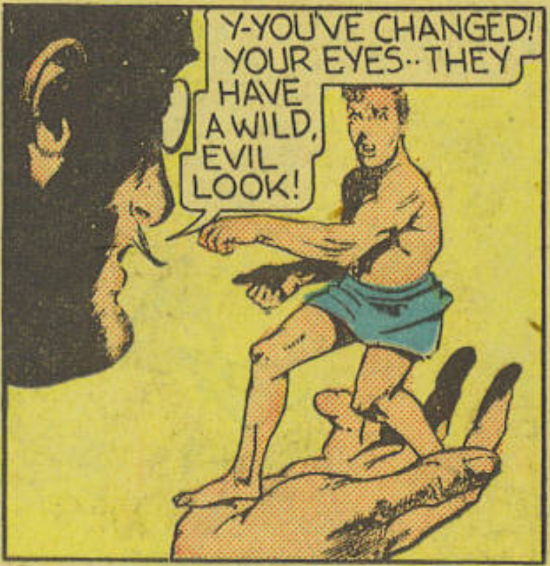 A panel from the Dollman story in Feature Comics #27, November 1939