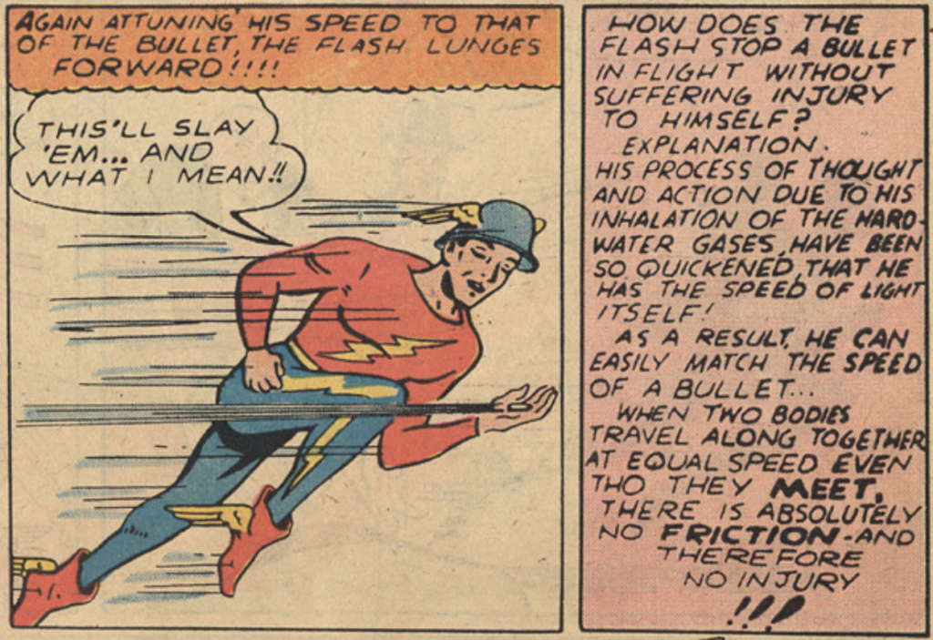 A panel from The Flash #1, November 1939.