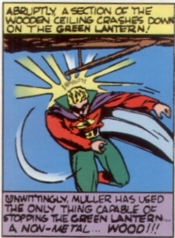 A panel from Green Lantern, All-American Comics #17, June 1940