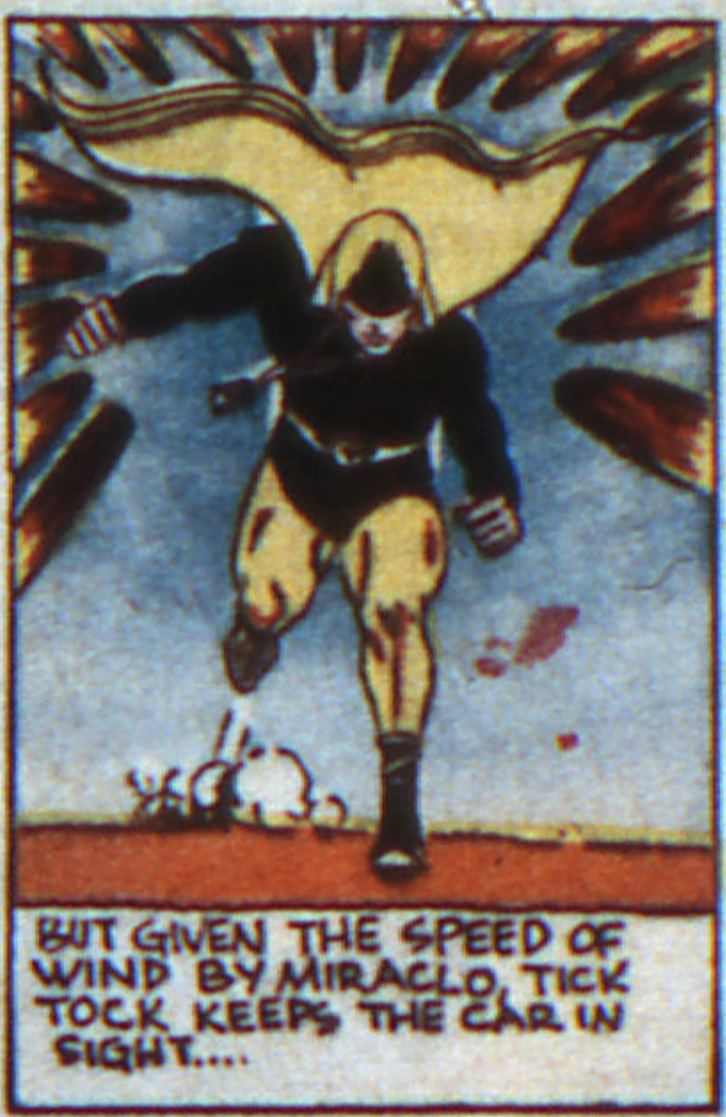 A panel from the first Hourman story in Adventure Comics #48 (February 1940).