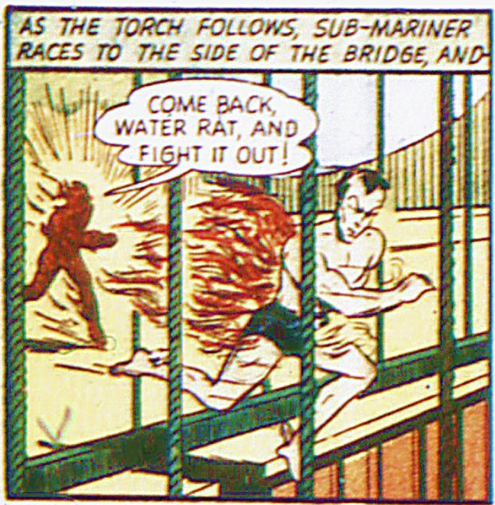 A panel from the Sub-Mariner story in Marvel Mystery Comics #8, April 1940