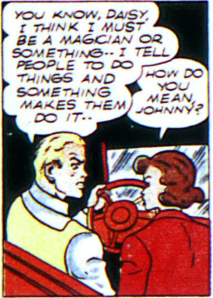 A panel from Johnny Thunderbolt, Flash #10, August 1940