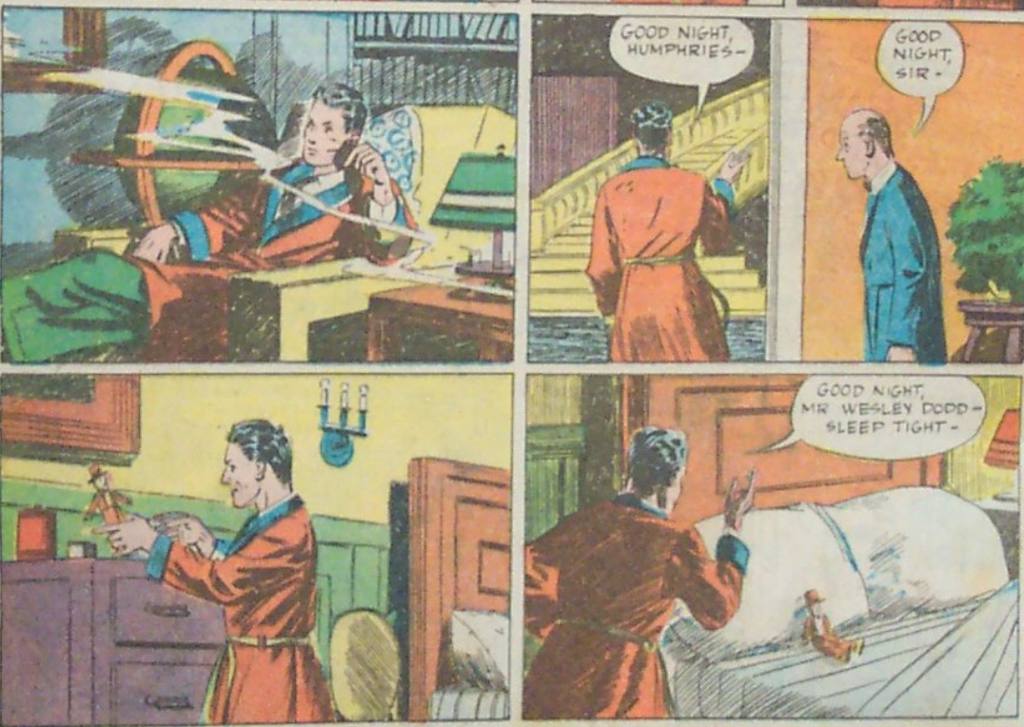 A panel from the Sandman story in Adventure Comics #40, June 1939