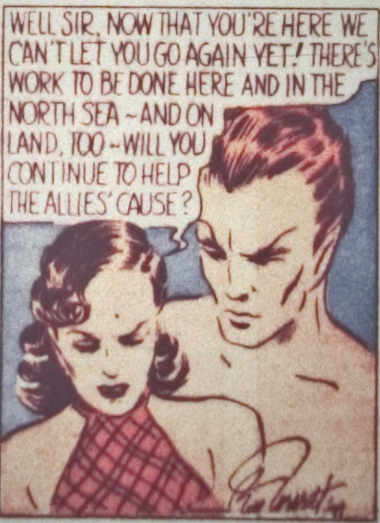 A panel from the Sub-Mariner story in Marvel Mystery Comics #3, November 1939