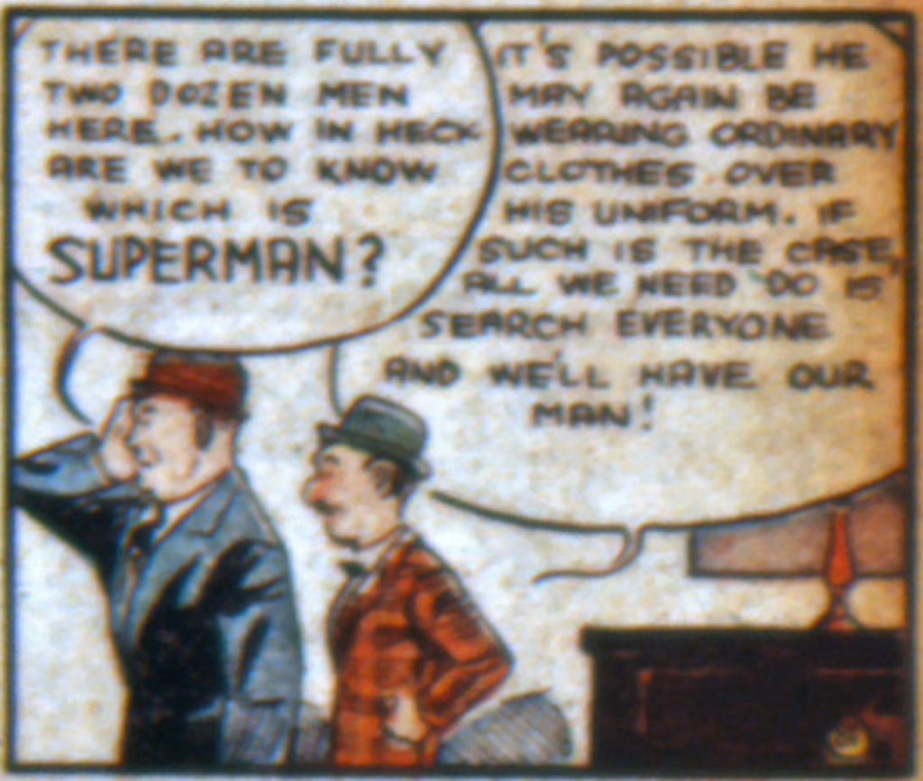 A panel from Superman in Action Comics #9, January 1939