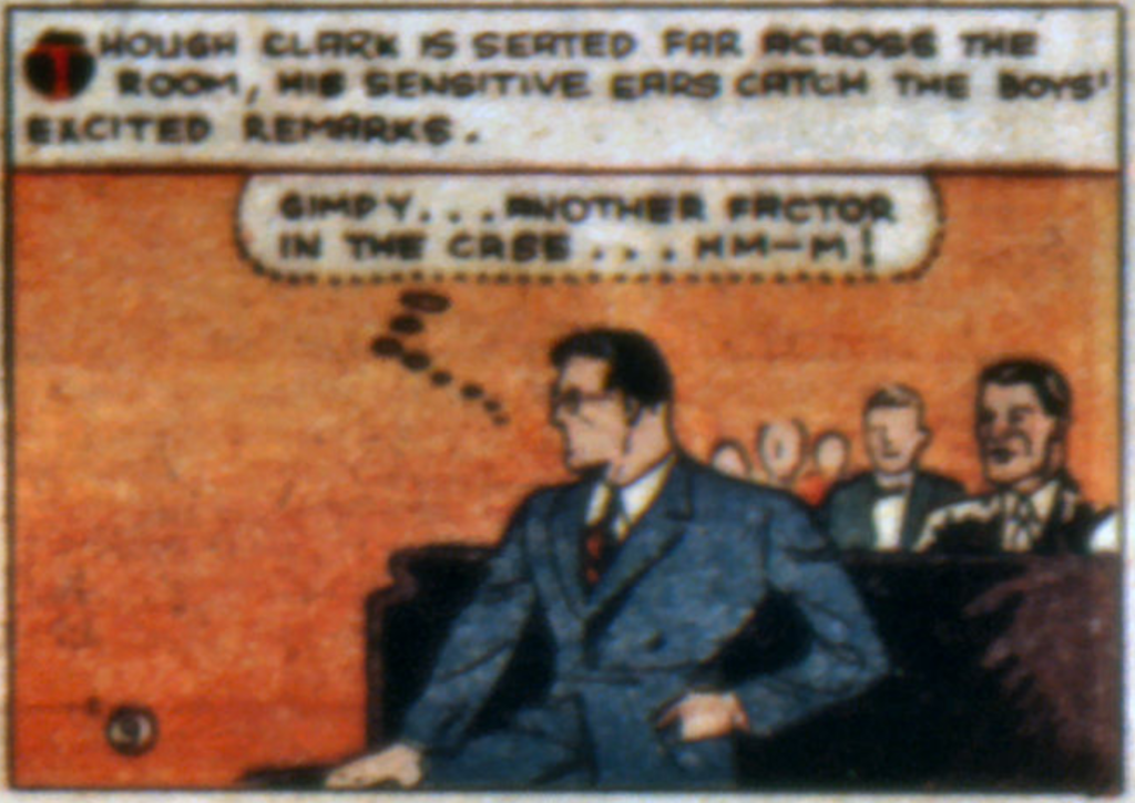 A panel from Superman in Action Comics #8, December 1938