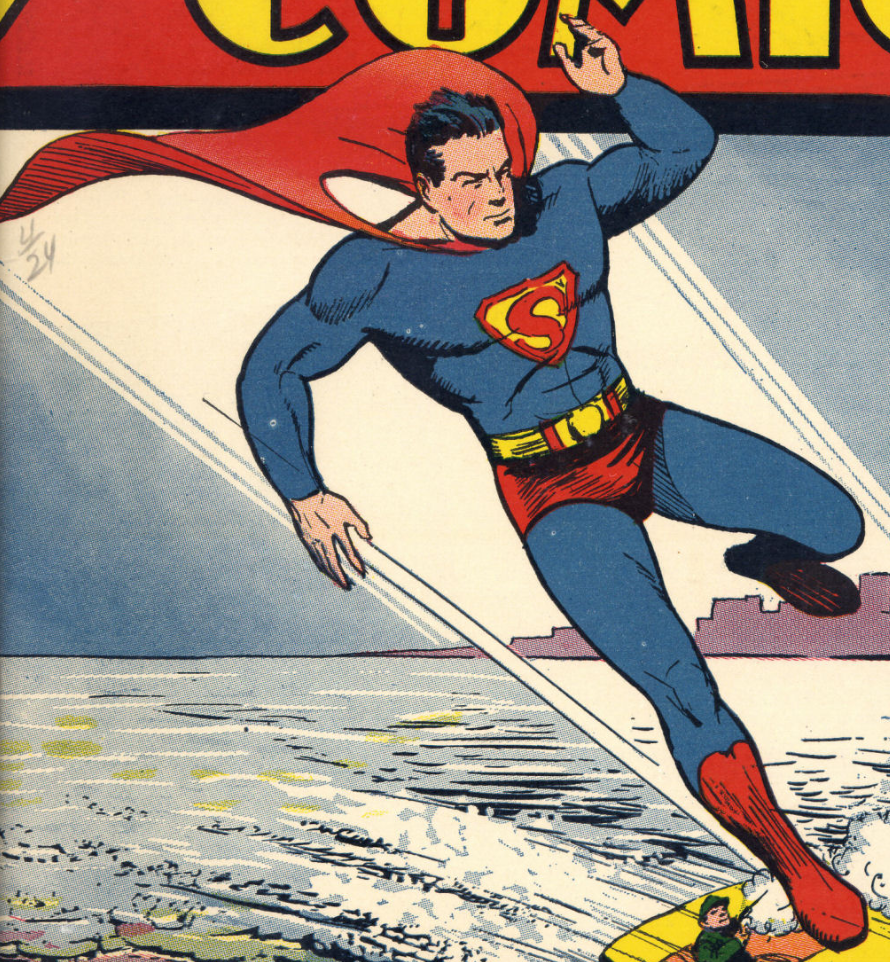 A section of the cover of Action Comics #25, April 1940