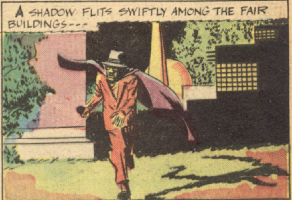A panel from the first Sandman story in New York World's Fair Comics, April 1939.