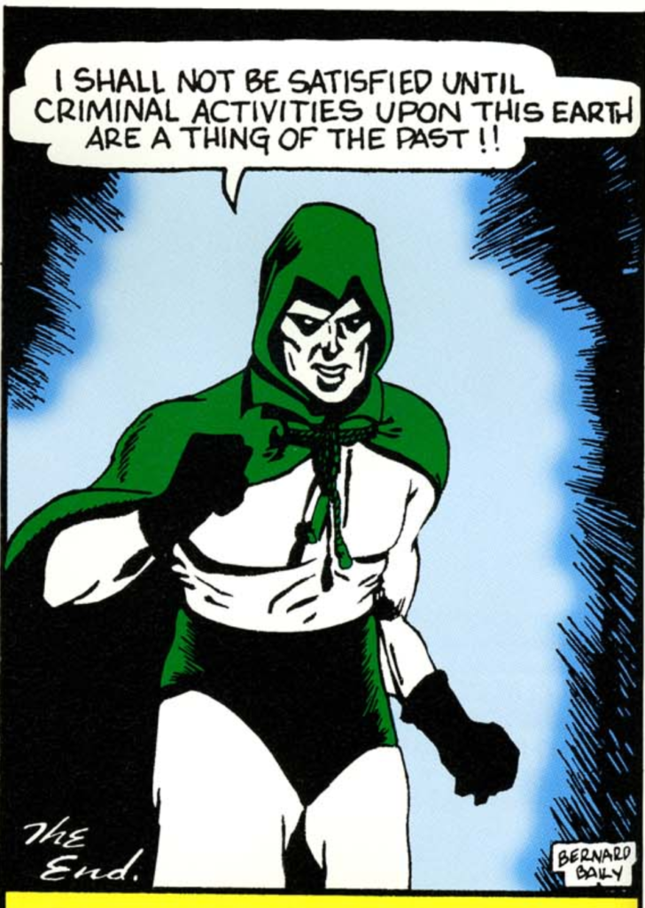 A panel from the Spectre story from More Fun Comics #53, February 1940