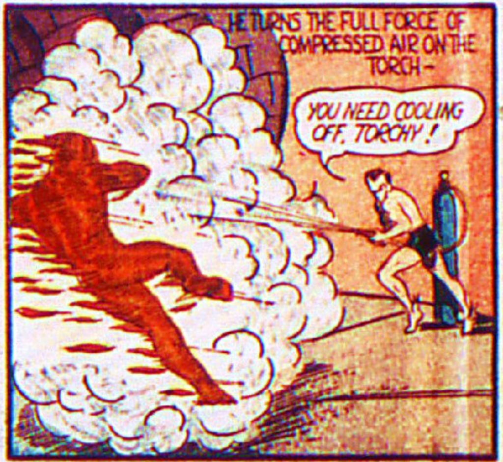 A panel from Marvel Mystery Comics #9, May 1940