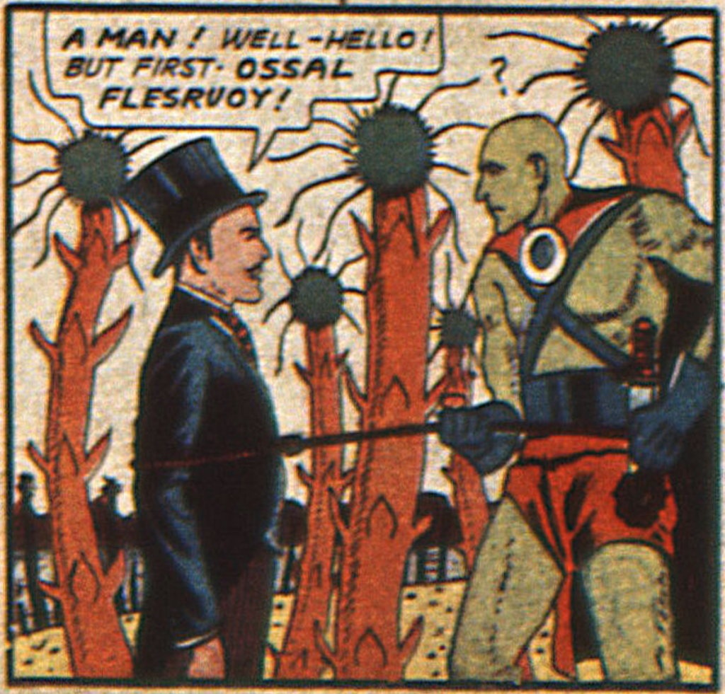 A panel from the Zatara story in Action Comics #16, August 1939