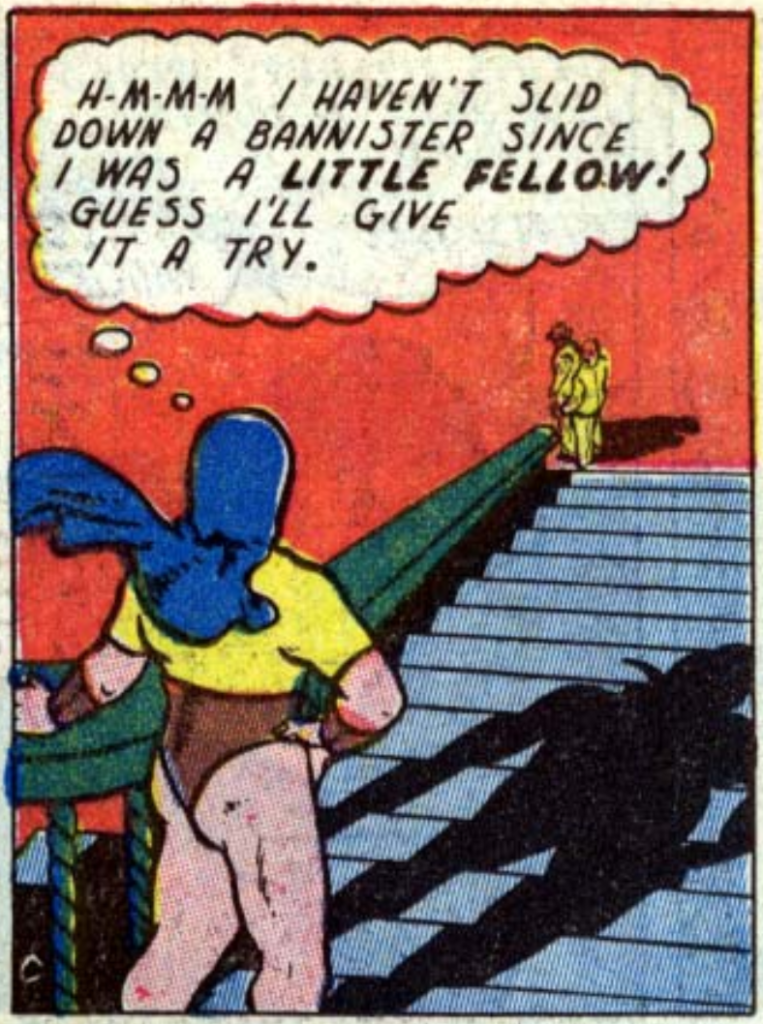 A panel from The Atom, All-American #22, November 1940