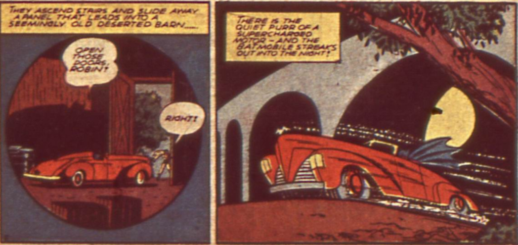 A panel from Detective Comics #48, December 1940