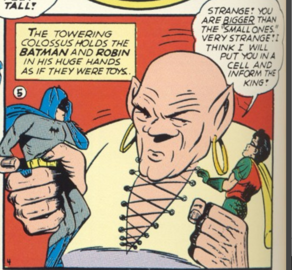 A panel from the Batman story in Detective Comics #44, September 1940