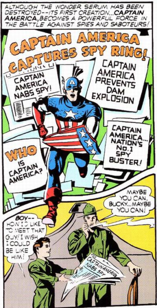 A panel from Captain America #1, December 1940