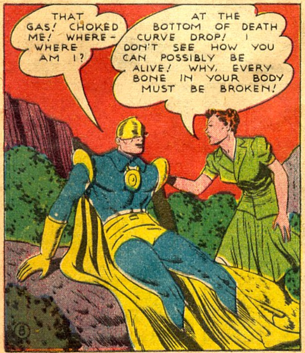 A panel from More Fun Comics #72, August 1941