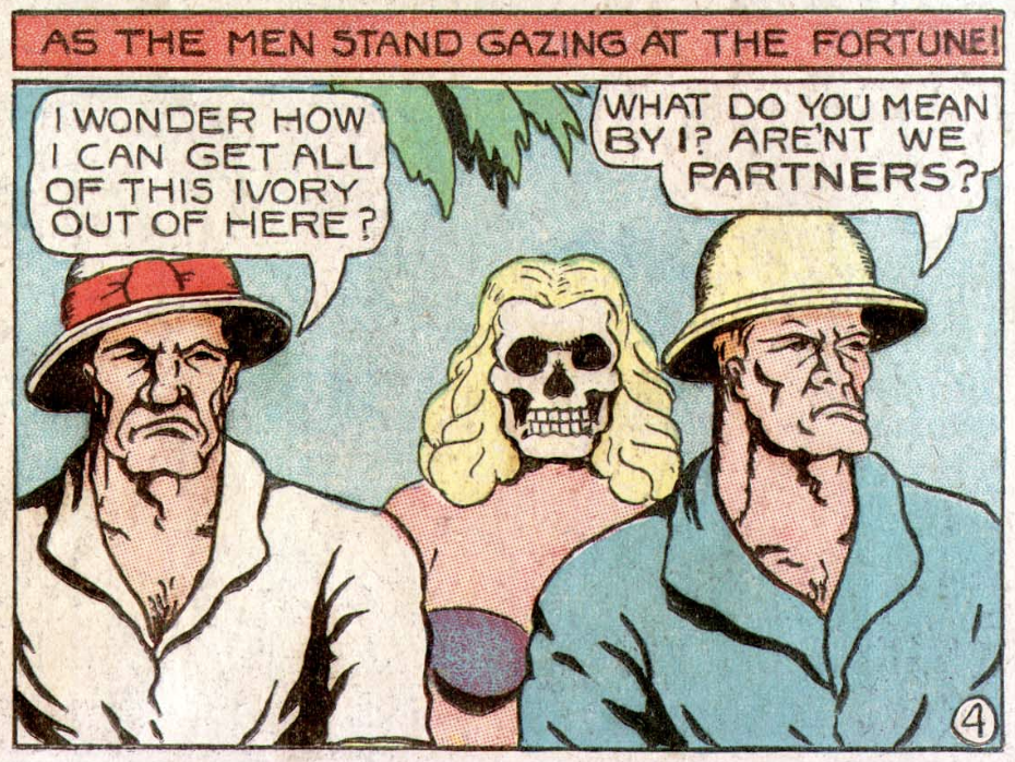 A panel from Jungle Comics #2, January 1940