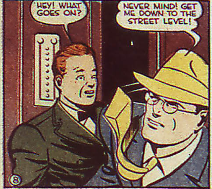 A panel from Action Comics #38, May 1941