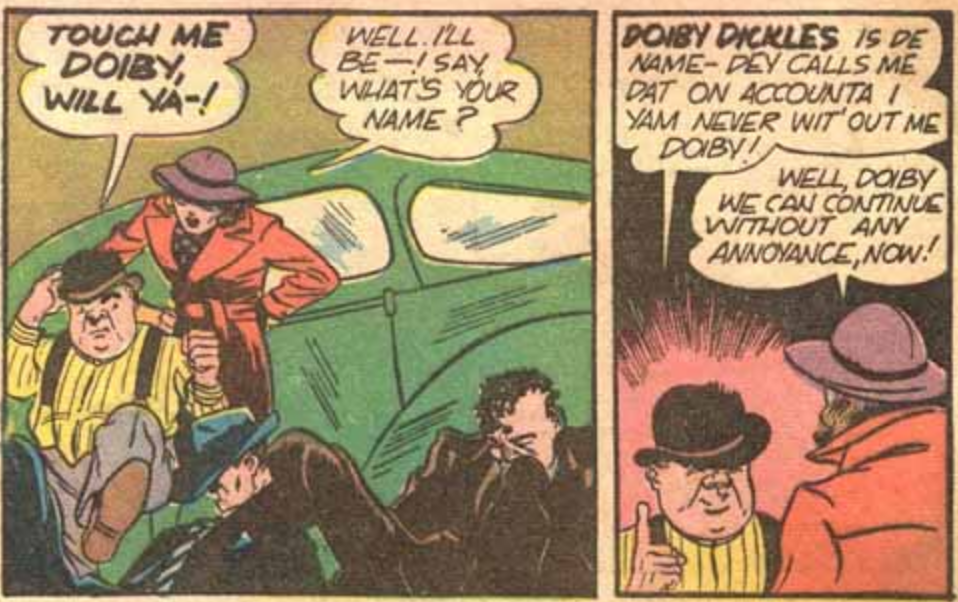 A panel from All-American Comics #27, April 1941