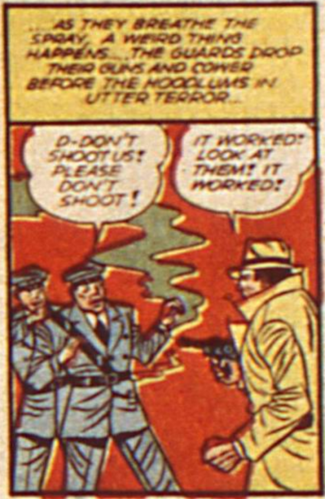 A panel from Batman in Detective Comics #46, November 1940
