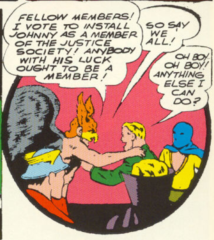 A panel from All-Star Comics #6, June 1941