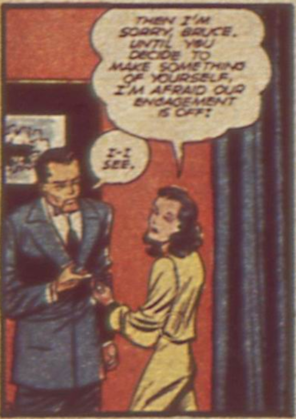 A panel from Detective Comics #49, January 1941
