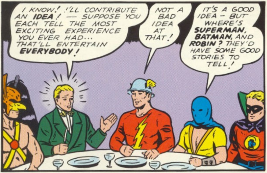 A panel from All-Star Comics #3, November 1940