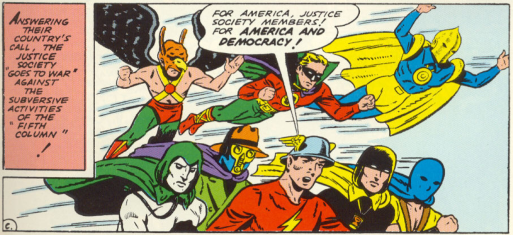 A panel from All-Star Comics #4, February 1941