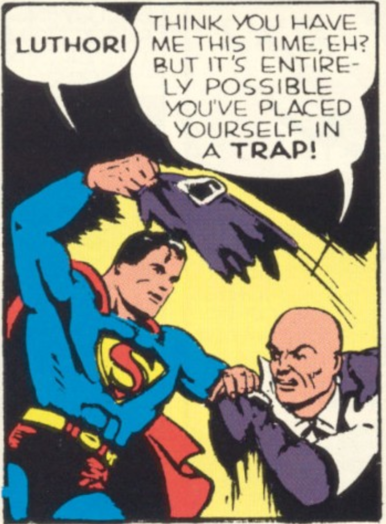 A panel from Superman #10, March 1941